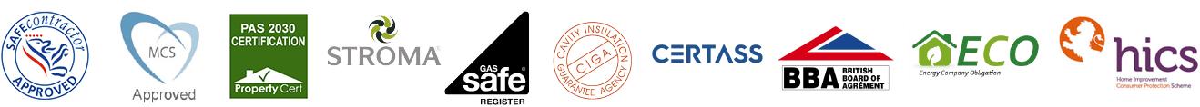 ProHeat Plumbing & Heating accreditations